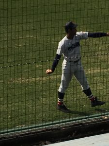 万波選手(横浜高校)